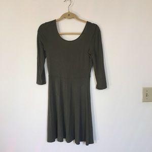 Express skater dress with scoop back